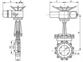 PZ973电动对夹式刀形闸阀概述