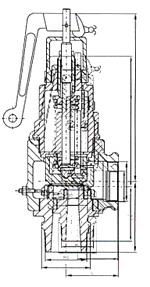 A27型微启式安全阀