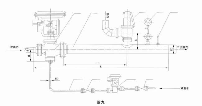 减温减压装置 气控减温减压装置系列图