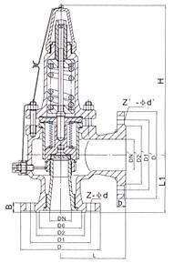 WA42型波纹管背压平衡全启式安全阀