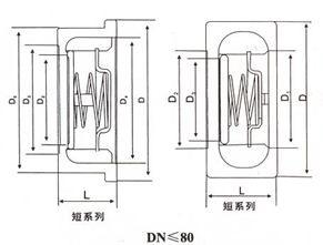 H71单瓣对夹升降式止回阀结构示意图