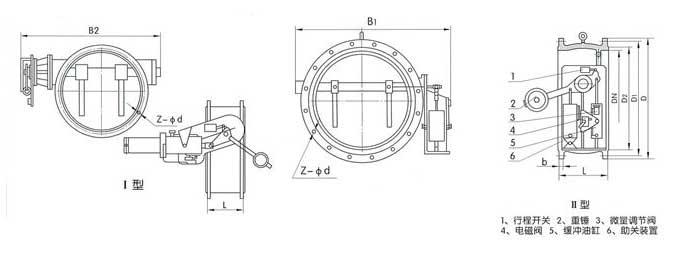H147H、H247H、H347H助关缓冲止回阀结构图