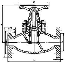 柱塞式闸阀结构示意图
