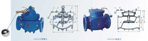 100X遥控浮球阀 结构图片
