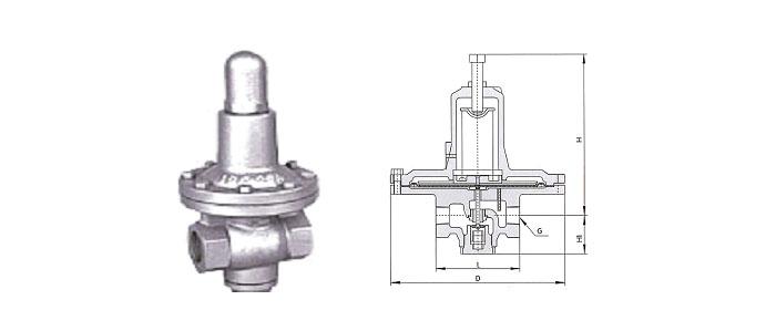 Ya11X型特大薄膜型高灵敏度水减压阀结构示意图