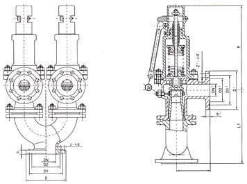 A37H-25(16C/40)安全阀结构示意图