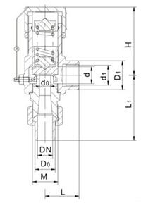 A21型微启式安全阀结构图