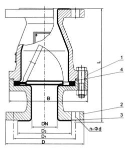 H44Fs旋启式衬氟塑料止回阀