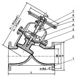 G45J直流式衬胶隔膜阀