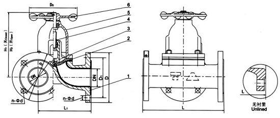 G49J(衬胶)三通隔膜阀