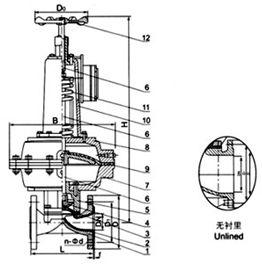 EG6K41W(无衬里)、EG6K41J(衬胶) 气动隔膜阀(常开型)