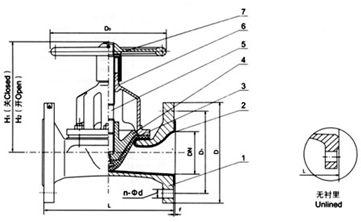 EG46W(无衬里)、EG46J(衬胶) 直通式隔膜阀