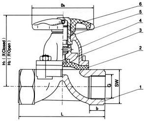 EG11W 内螺纹隔膜阀