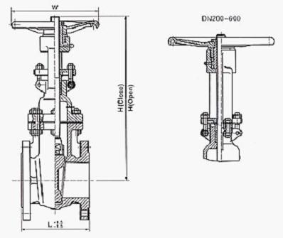 德标闸阀 结构图