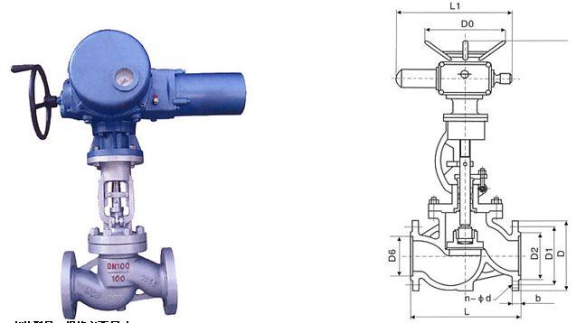 国标电动截止阀结构图