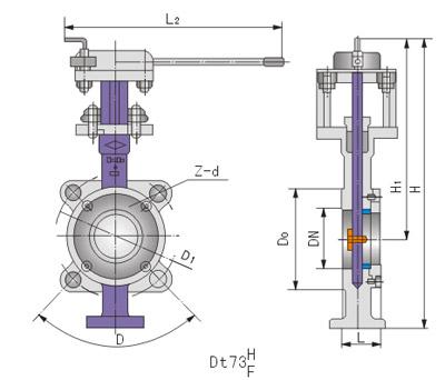 DT73对夹式弹性硬密封蝶阀 用途与特点