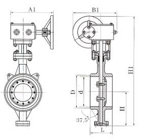 Dt(d)363H/W-C.I.P.R对焊式金属硬密封蝶阀