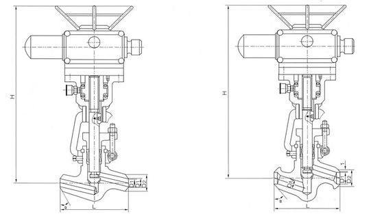 高温高压电动电站截止阀结构图