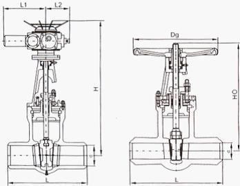 Z960高温高压电站闸阀结构图