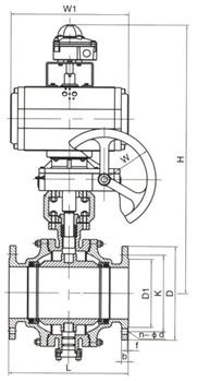 气动固定(金属密封)球阀结构图