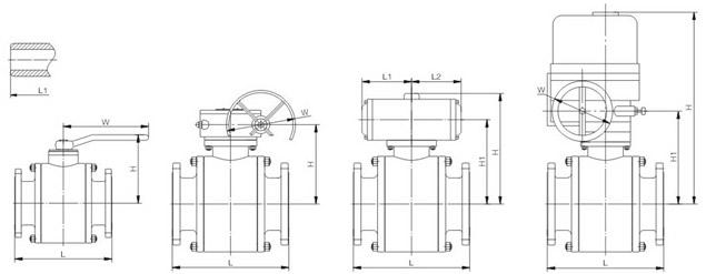浮动式锻钢球阀