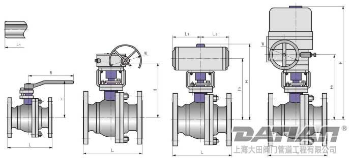 浮动式锻钢球阀结构图