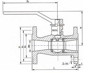 一体式法兰不锈钢高温球阀 概述