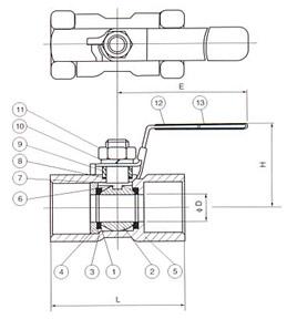 一片式球阀(1PC)Q11F-16/64(P,R)