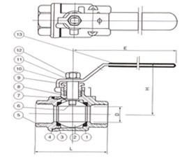 二片式球阀(2PC)Q11F-16/64(C,P,R)