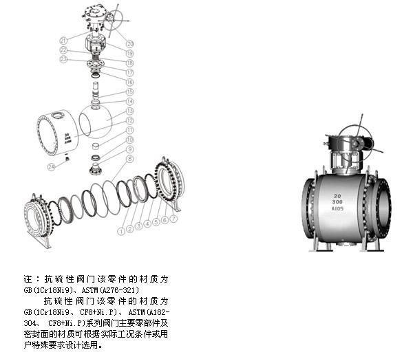 法兰连接固定式铸钢球阀