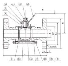 三片式法兰球阀(3PC)Q41F-16/40(C,P,R)