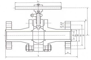 三段式高压法兰球阀 概述