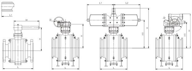 堆焊连接固定式铸钢球阀