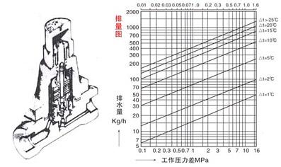 TB5(3,6,11)F可调双属片(CS17H)疏水阀结构示意图