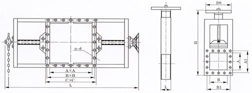 螺旋闸门结构示意图