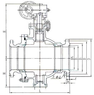 Q347F蜗轮球阀