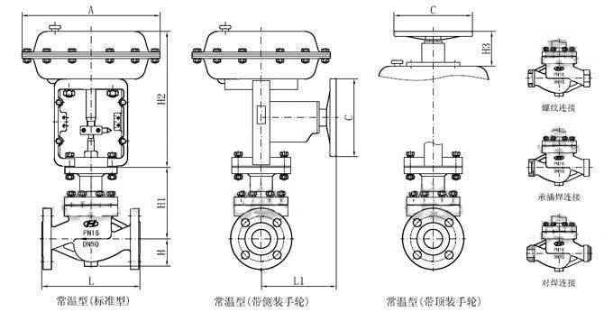 电动压力调节阀外形尺寸
