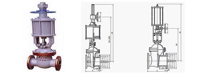 Z641国标气动楔式闸阀 气动楔式闸阀PN1.6MPa