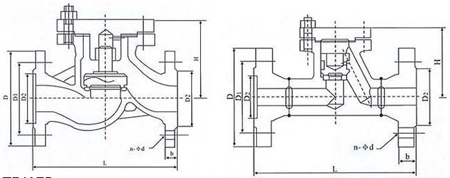 H41国标升降式止回阀结构示意图