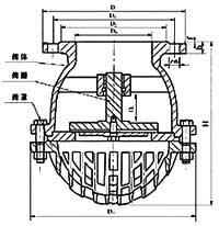 H42X升降式底阀结构示意图